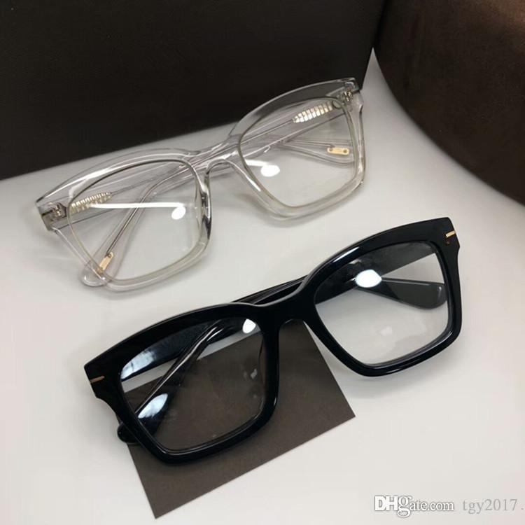 Hochwertiger 681-F-Unisex-Sonnenbrillen-Rahmen-Bild-kurze Big-Square-Rand-Verweis-Brillenrahmen 50-20-145Imported Pure-Planke-Vollsatz-Fall