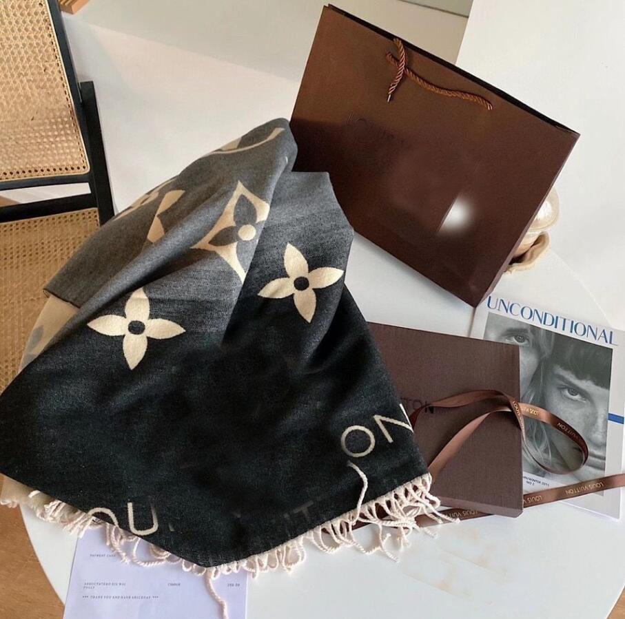 3color With Packing Box Winter Wool scarf classic letter scarf ladies and boys cashmere shawl designer shawl with original box scarf 180*35