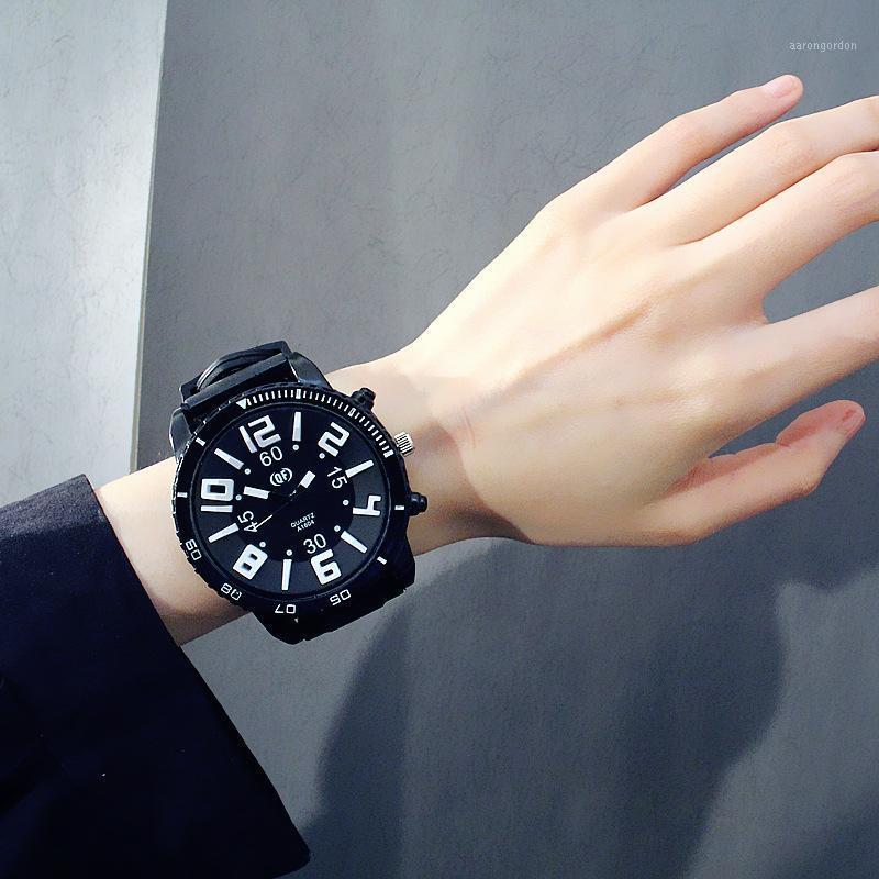 Большие часы с модным письмом Exo оригинальный стиль набор персонаж Joker личность желе мужская женщина пары студент часы1