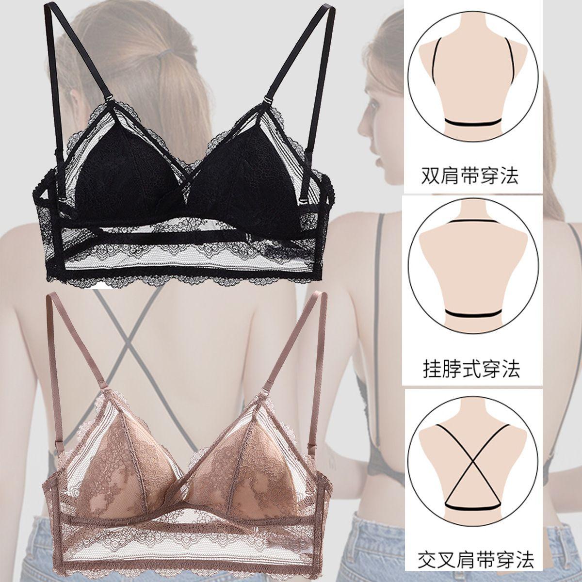 Lencería Sexy Femenino Ultra Thin Rimless Cofre Con Pequeño Sujetador De Copa Triangle Triangle