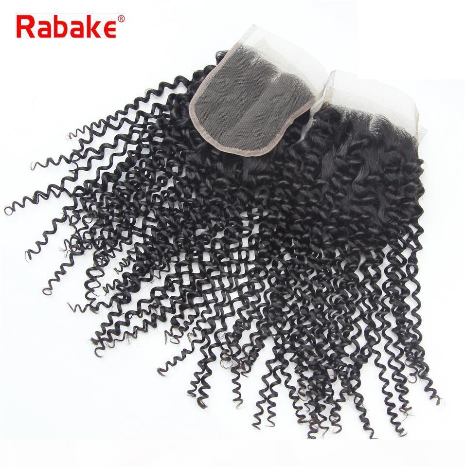 Toptan Ucuz En Dantel Kapanış 4x4 Kinky Kıvırcık Virgin Remy saç uzantıları Brezilyalı Perulu Malezya Hint Kıvırcık İsviçre Dantel Kapanış