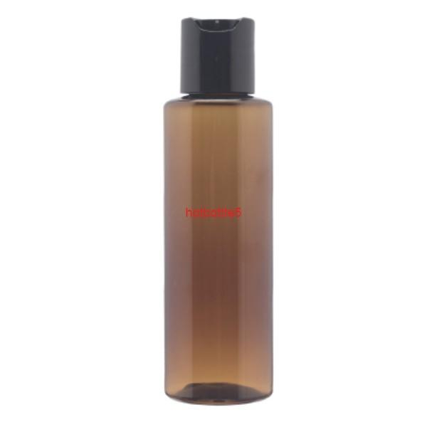 30pcsX 200ml empty Brown disc top cosmetic PET lotion bottles 200cc amber shampoo pastic bottle with capgood quality