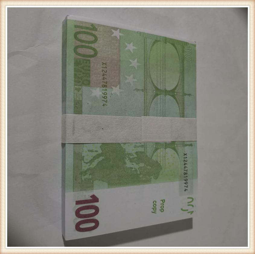 simulação de Hot-venda de 100 euros token02 prática cinema moeda dinheiro falso brinquedo e tiro televisão adereços jogo bar