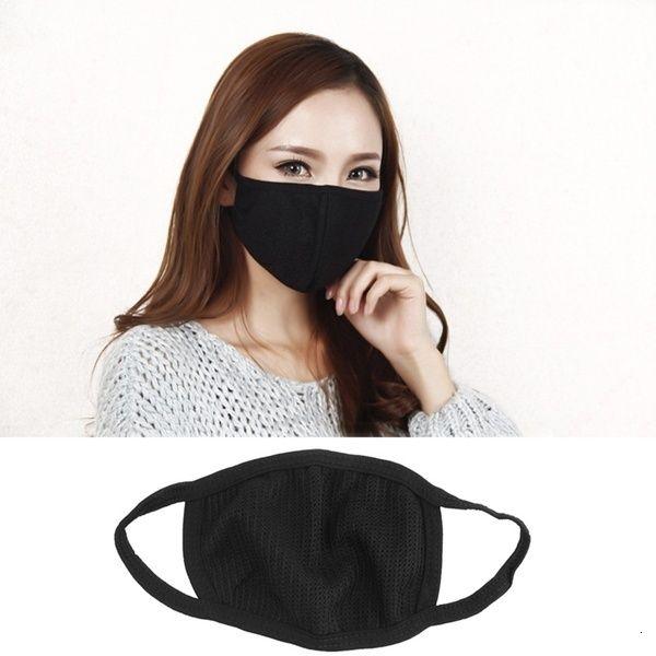 Cotton Mouth Face Mask Anti Dust Mask Pollution Black Washable Reusable Dustproof Respirator Mask Unisex