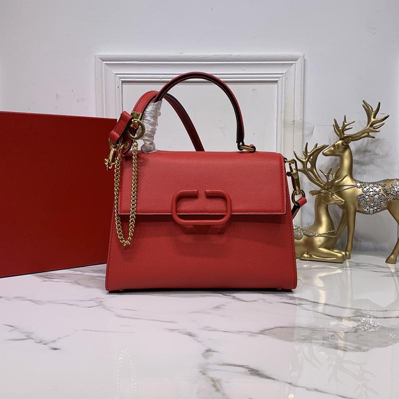 granulated calfskin handbag extend the shoulder strap and handle adjustable chain trim leather shoulder straps fashion atmosphere bags