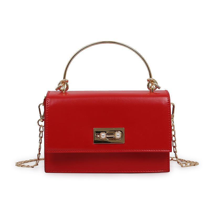 Designer-2019 Новая женская сумка Miss Han Edition Messenger Сумка мода простая дикая блестящая PU небольшая квадратная сумка оптом цепь