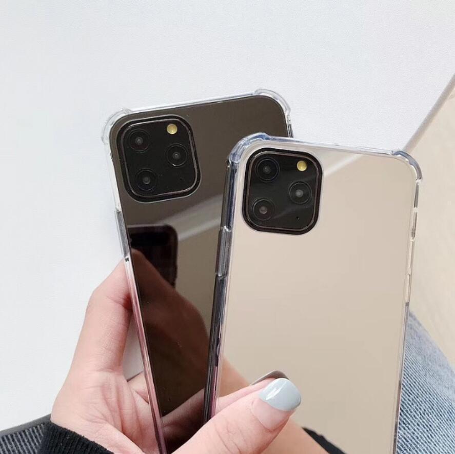 PC TPU antiurto per iPhone 12 Pro Max 6 7 8 Plus x XR XS Max Case Make Up con coperchio specchio per iPhone 11 Pro Mirror Fashion Phone Case