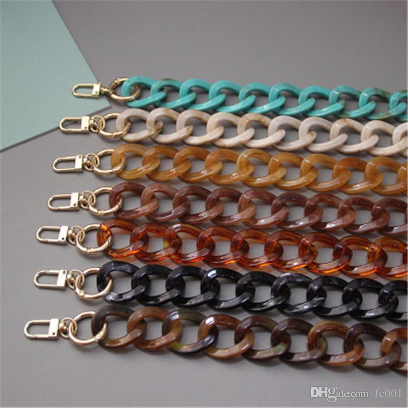 Pearl-Light Creative Acrylic Saco Decoração Corrente Portátil Retro Bump Color Cor Hot Chain Fashion