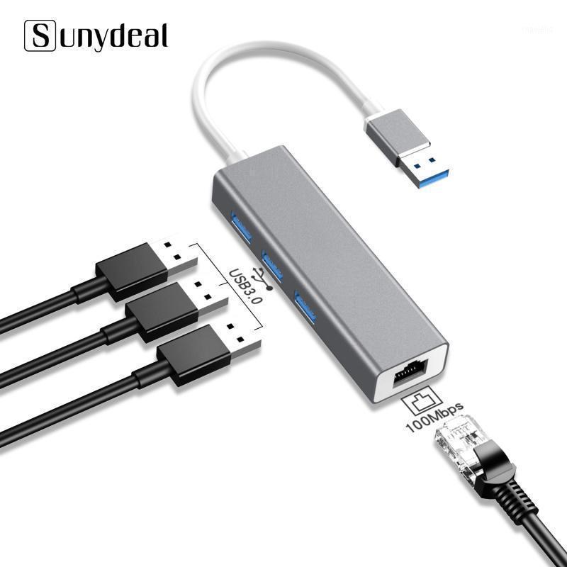 4 in 1 Çok USB HUB 3 0 Dizüstü PC Bilgisayar Aksesuarları Için Adaptador USB Port Splitter RJ45 3.0 HUB Adaptörü Şarj Cihazı1
