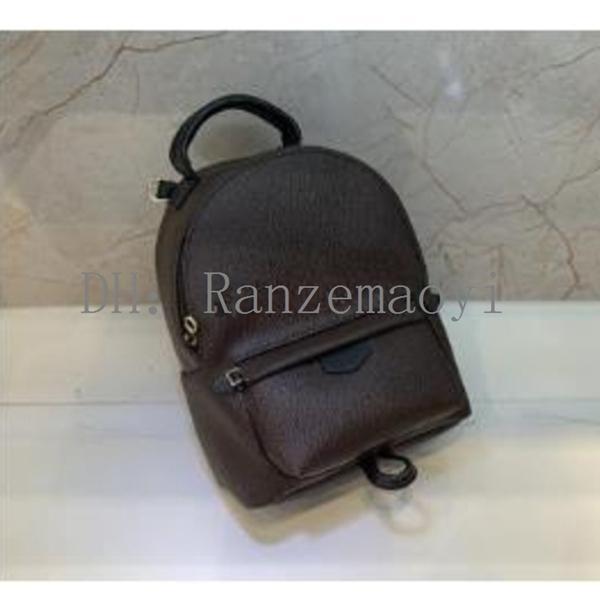 Kostenloser PU-Versand! Mode Springs Rucksack Mini Rucksack Handtasche Frauen Druck Leder Kinder Palm Jtrjf