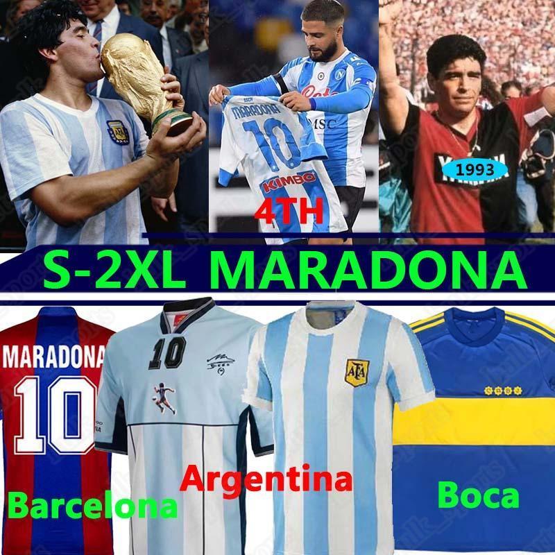 Maradona Bárcelona Napoli Retro Jerseys Neapel Napoles Maglia Camisetas Maradona Jerseys Newells Maillot Argentin Boca Juniors Mann Kinder Kits
