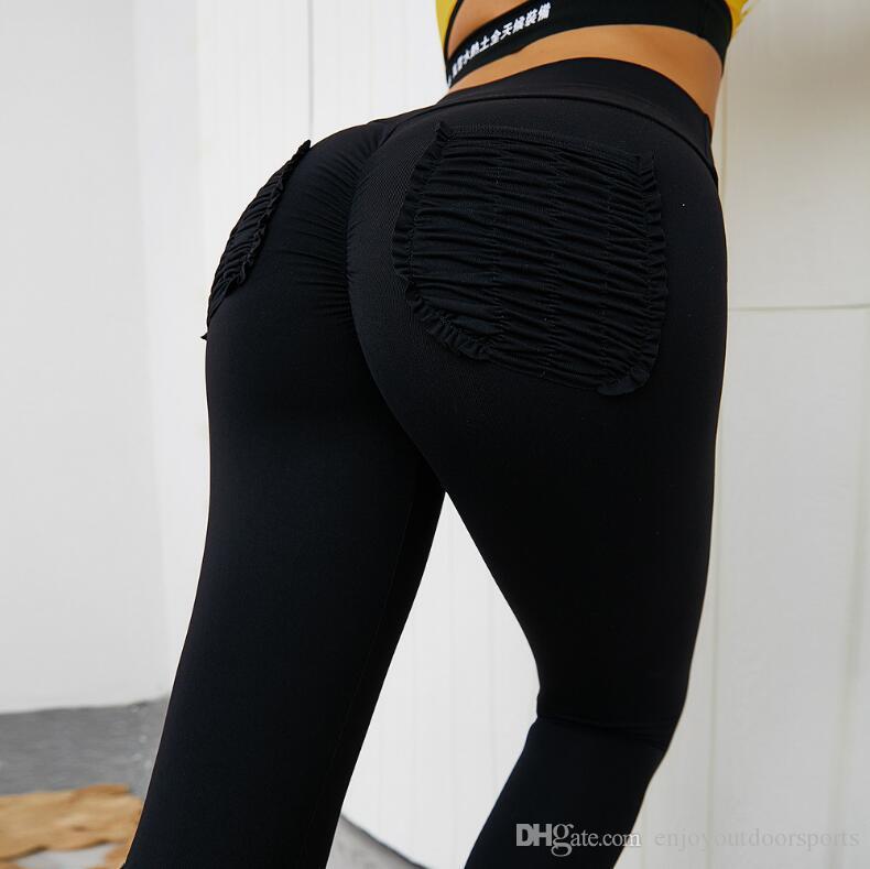 Высокая талия бесшовные брюки йоги спортивные леггинсы с карманом для женской тренировки женские тонкий тренажерный зал Фитнес подтолкни бегущий колготки легинги легинов Joga