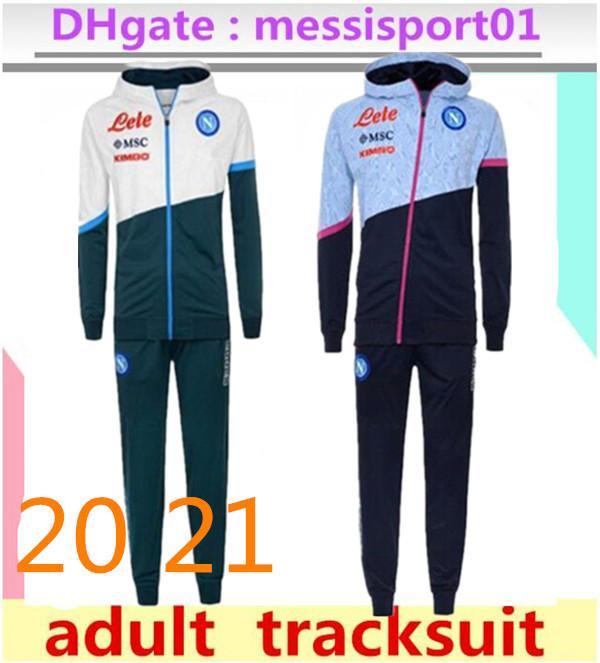 2020/2021 Napoli Tracksuit Hamsik insigne Callejon Zielinski 2020/21 SSC Naples Long Long Zipper Jacket Ensemble 2019 Football Veste Costume