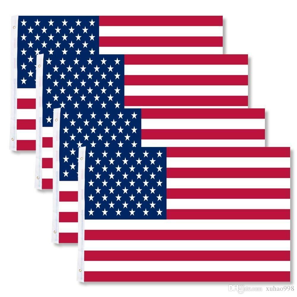 4 pack 3x5 drapeaux américains ~ USA États-Unis d'Amérique ~ Stars américains