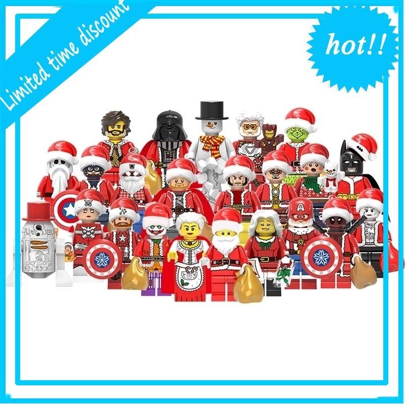 Совместимые Superheros Legos Кирпич Игрушка Мини Действие Рисунок Пластиковые Строительные Блоки Игрушки Для Детских Рождество