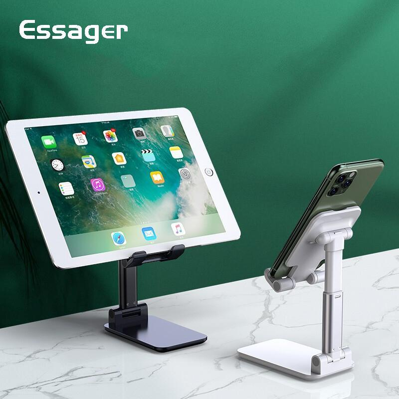 Essager Mobile Phone Holder Universal Support Desktop Tablet Metal Stand Adjustable Desk Cell Phone Holder For iPad
