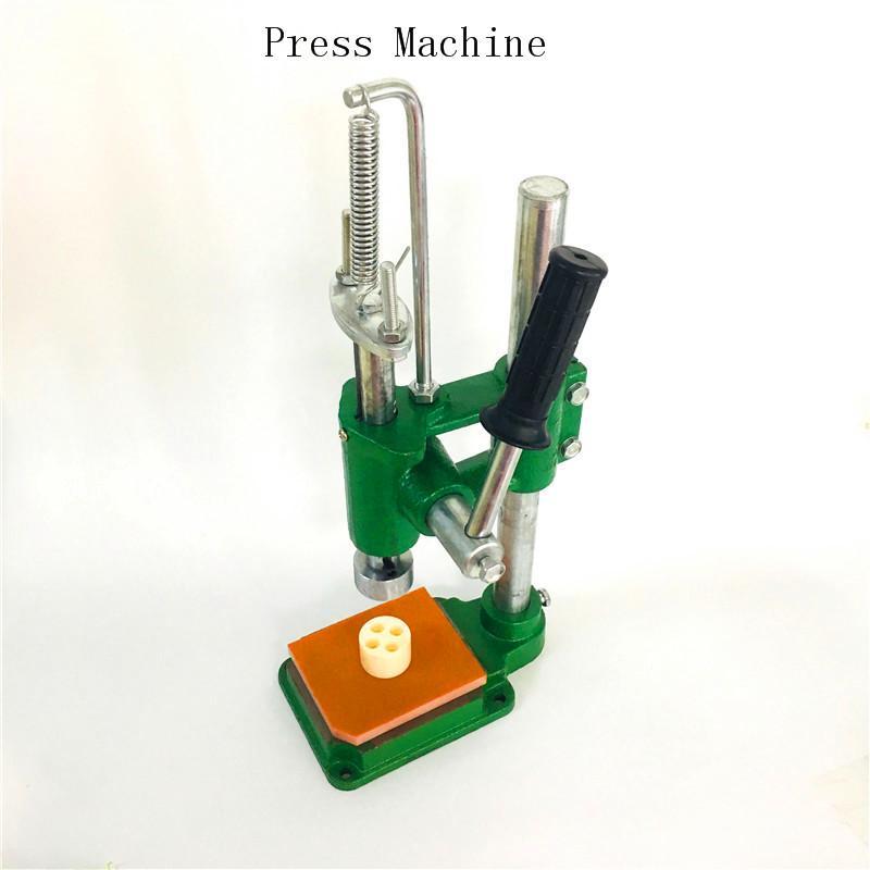 Máquina de imprensa para 510 cartuchos de óleo Embalagem M6T Vape Pen Arbor Press Carrinhos Cerâmicos Pressione Tip Atomizer Portátil Manual Presser