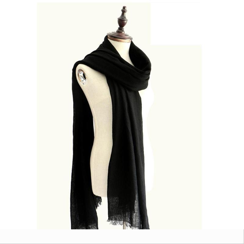 Lujo 60S diseñador 100% de lana mantón llano de la bufanda fina y suave cachemira bufandas mantón caliente womenMen invierno