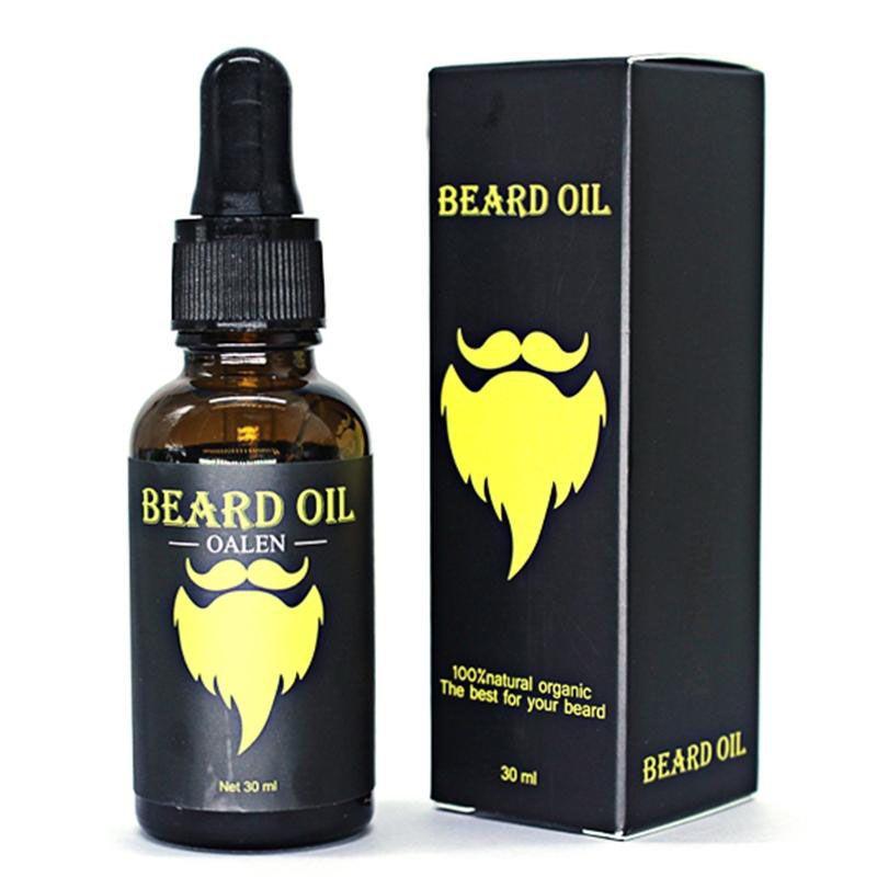 1 set Men organic beard oil with beard brush comb storage bagRabin