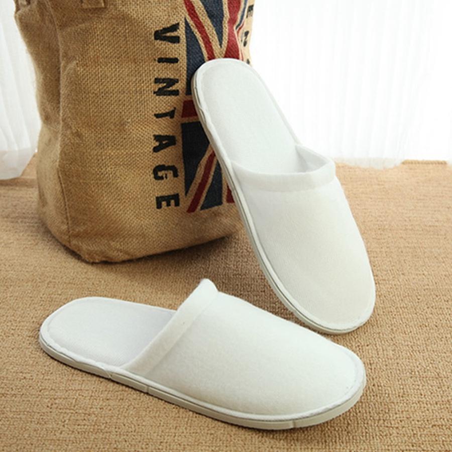 Hotel personalizzabile Comodo comodi pantofole interne spesse monoppette antiscivolo scarpe per gli ospiti in casa traspirante morbide pantofole monouso DHFGGH