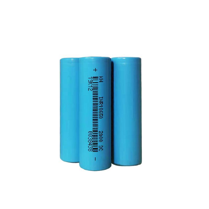 Pil Hücresi 3.7 V 2000 mAH 18650 Lityum Li-Ion Elektrikli Scooter Bisiklet için Şarj Edilebilir 3C Piller