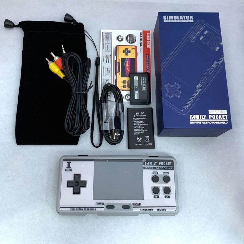 Портативная игровая консоль видео игровой консоль 8 бит 2G памяти симулятор FC3000 портативные дети Цвет PXPX7