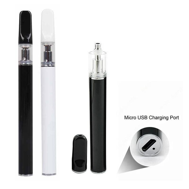 Thick Oil Disposable Vape Pen Starter Kit with Bottom USB Port 280mAh 0.3ml 0.5ml Rechargeable Empty Ceramic Coil Cartridge Vaporizer