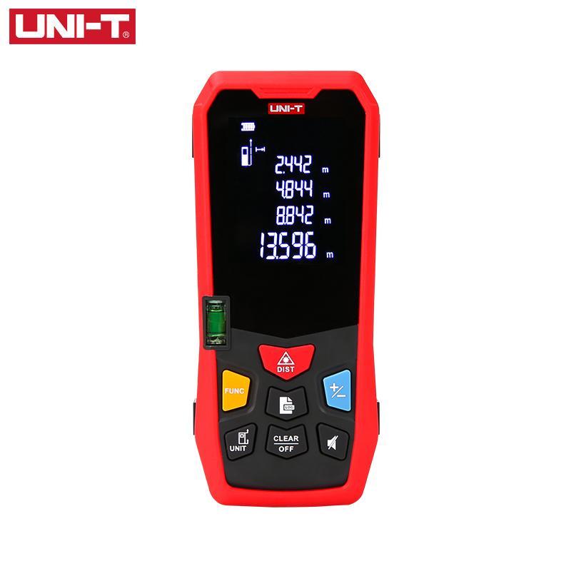 UNI-T يده الليزر rangefinder المسافة متر 35 متر 40 متر 50 متر 60 متر ميدور الشريط الليزر بناء مقياس جهاز الحاكم الإلكترونية T200603
