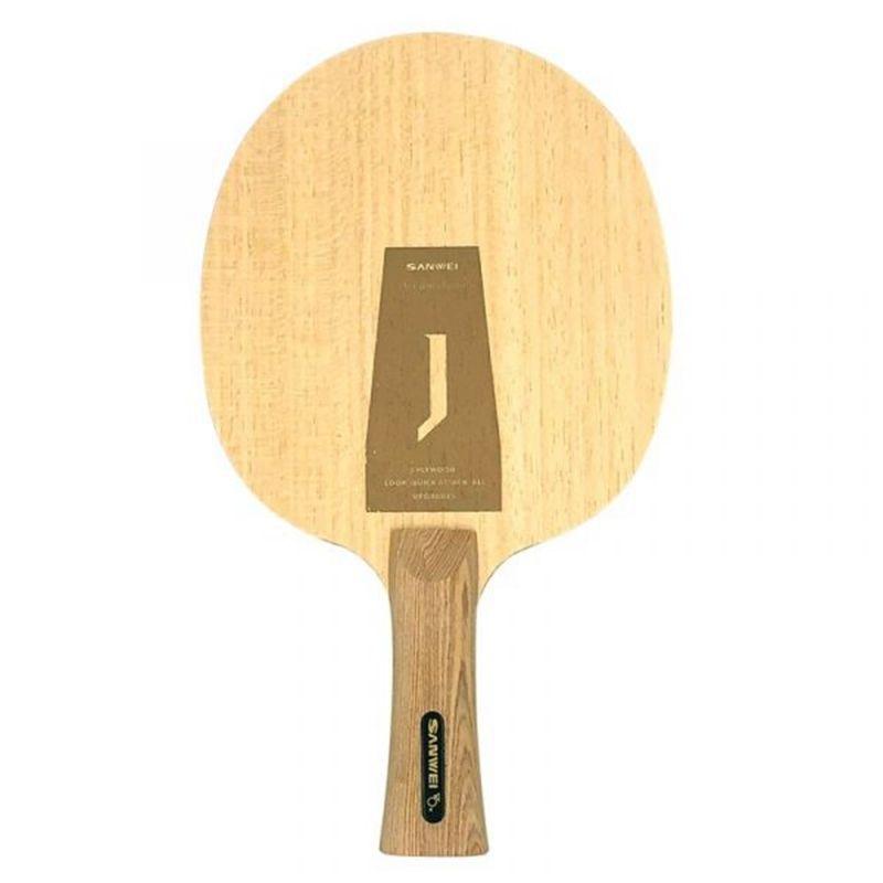 Sanwei Acumulador J 5PLY Lâmpada de Ténis de Mão Luz de Mão para Iniciante Treinamento Tênis Jogo Pure Wood Light Ping Pong Bat Z1120