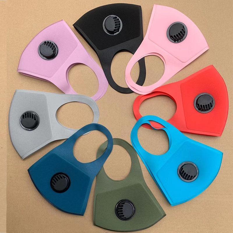 Schwammmaske mit ventilwaschbarer wiederverwendbarer Gesichtsmask High Fashion Face Mask Multiple Color Individuelle Paket Balck Attemator Design Masken