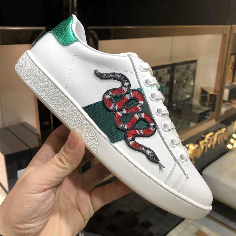 أزياء الرجال النساء الأحذية عارضة أحذية عالية الجودة منصة شقة شوس ايس النحل التطريز الحجم يورو 36-45
