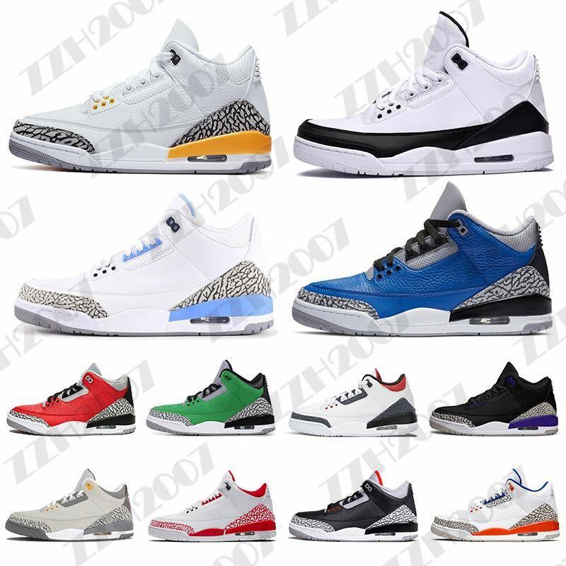 2020 3S 3S Hommes Chaussures de basket-ball Noir Cat Mocha Sport Bleu Loup Cool Gris Varsity Royal Pure Money Mens Triane Sports Sneaker 40-47