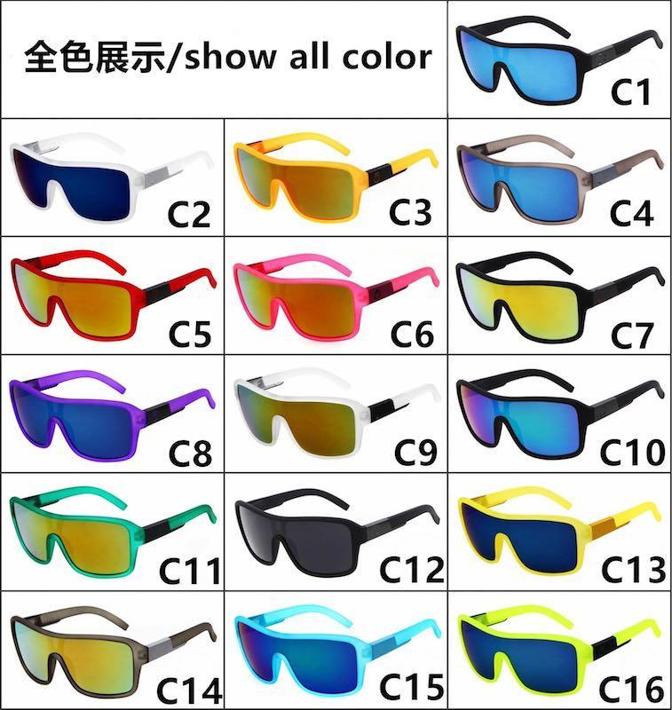 Outdoor-Radfahren Sonnenbrillen für Männer und Frauen Sport Goggles Dragon-Sonnenbrille 16 Farben Bunte Spiegellinsen UV400 Großhandel
