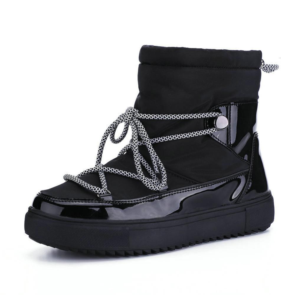الجوارب الساخنة شقة snowboots 2020 أحذية واحدة للنساء منصات الأحذية الشتوية الصلبة