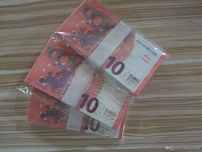 La mayoría de los accesorios de juego Faux 10 EURO Props Billet Children's 02 Bar juego Adultos Juguetes Movie Realista Money Money Prop Special Ines