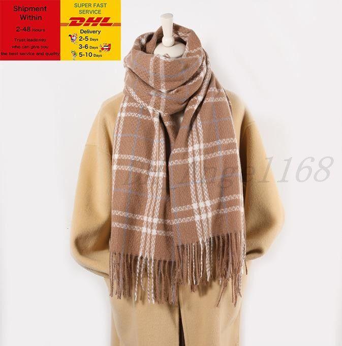 2020 Nuevo otoño / invierno Plaid Cashmere Bufanda de la bufanda de la bufanda Cashmere Scarf Classic Tassel Warm Shawal Amantes engrosados bufanda