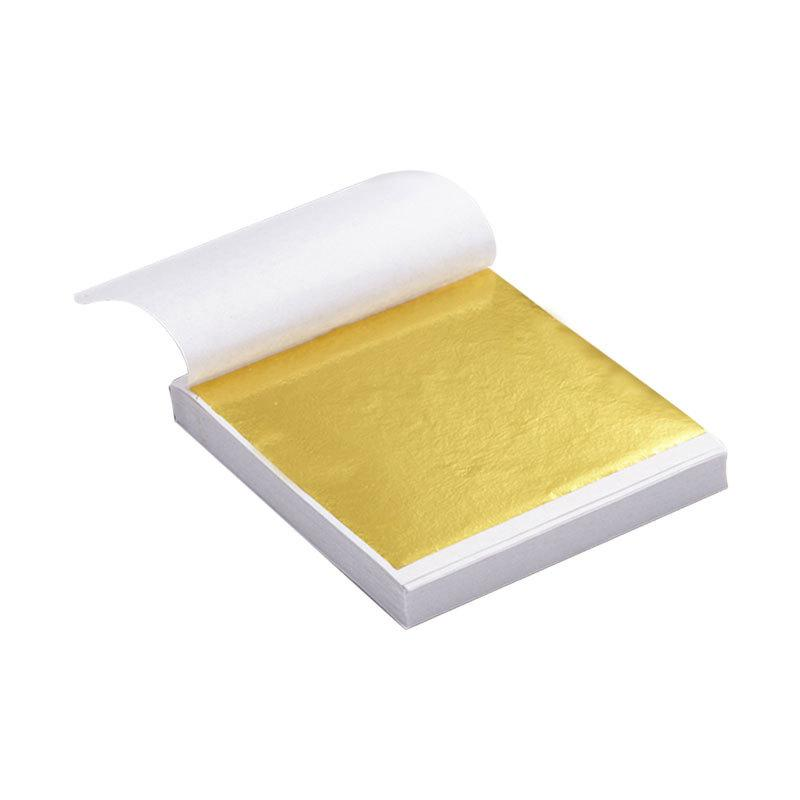 Gold Leaf Imitation Silver Foil Paper for Gilding Funiture Wall Art Crafts Handicrafts Nails Decoration JK2101XB
