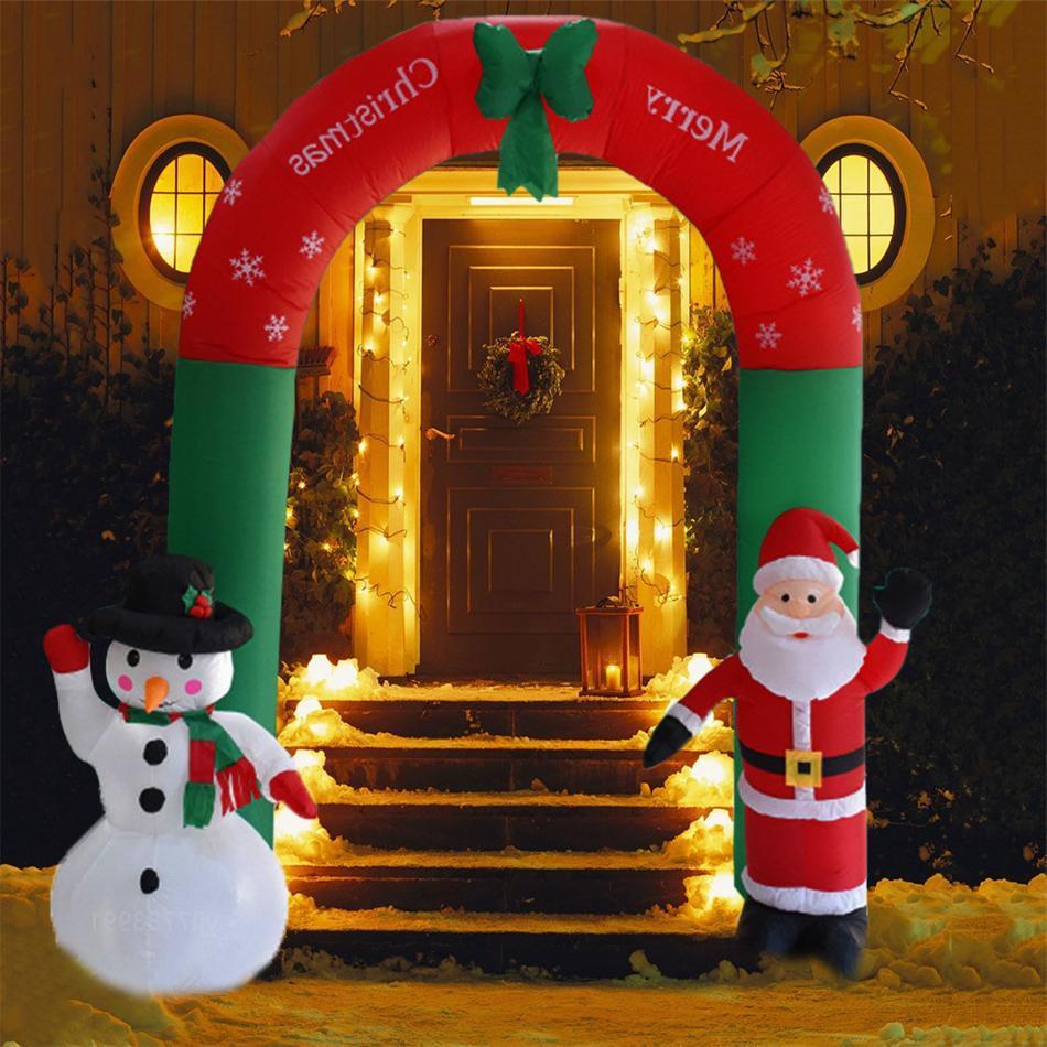 Açık Dekorasyon Şişme Noel Baba Kardan Adam Şişme Bahçe Yard Archway Cadılar Bayramı Noel Süsler Noel Yeni Yıl Oyuncak Toptan