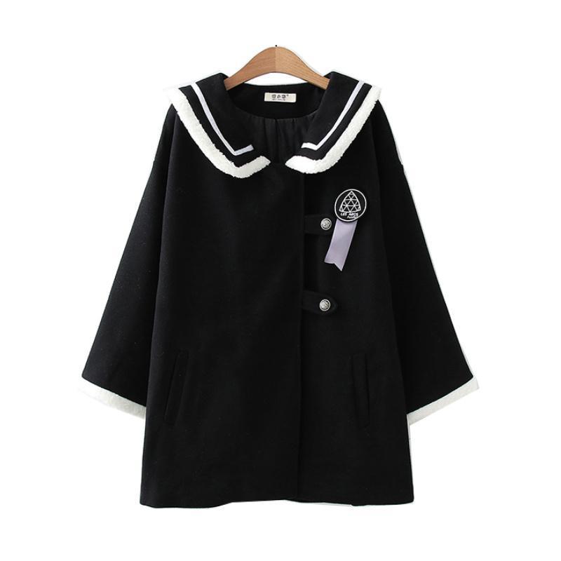 Bombones de lana para mujer Abrigos para mujer 2021 Invierno Coreano Moda Largo Vintage Bordado Casual Damas Calidez Outwear Outwear Precito Estilo Tops