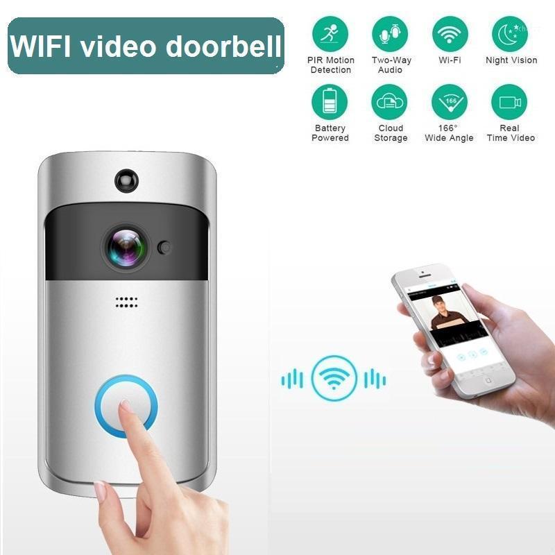 WiFi Smart IP Vidéo Interphone Soignée sans fil avec caméra pour la porte de la porte de l'appartement Bell anneau IR Alarm Security Camera1