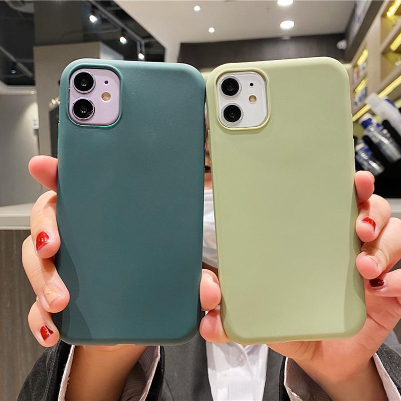 Funda de teléfono TPU suave para iPhone 12 11 Pro MAX XS XR 7 8 PLUS SE 2 CUBIERTA DE COMPA DE PROTECCIÓN MULTI COLOR