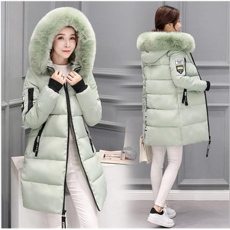 New Fashion Women Winter Jacket With Fur collar Warm Hooded Female Womens Winter Coat Long Parka Outwear Camperas 201211