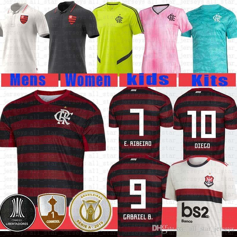 NCAA Thai Erkekler S Kadınlar Flamengo Futbol Jersey Gabriel B. Diego De Arrascaeta Mancuello Vinicius JR B.Henaique 2019 2020 Flaman Guerrero Ayak