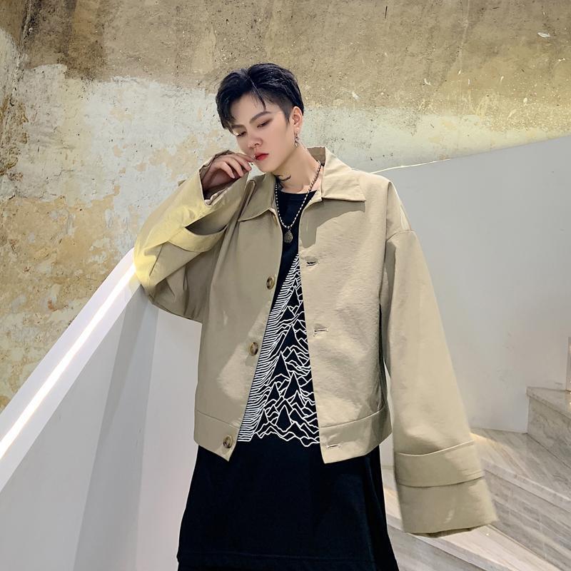 Giacche da uomo Abbigliamento da uomo Abbigliamento da uomo Abbigliamento largo manica larga Allentato Casual Giacca Corta Capispalla Maschio Donne Giappone Streetwear Hip Hop Vintage Moda Cappotto