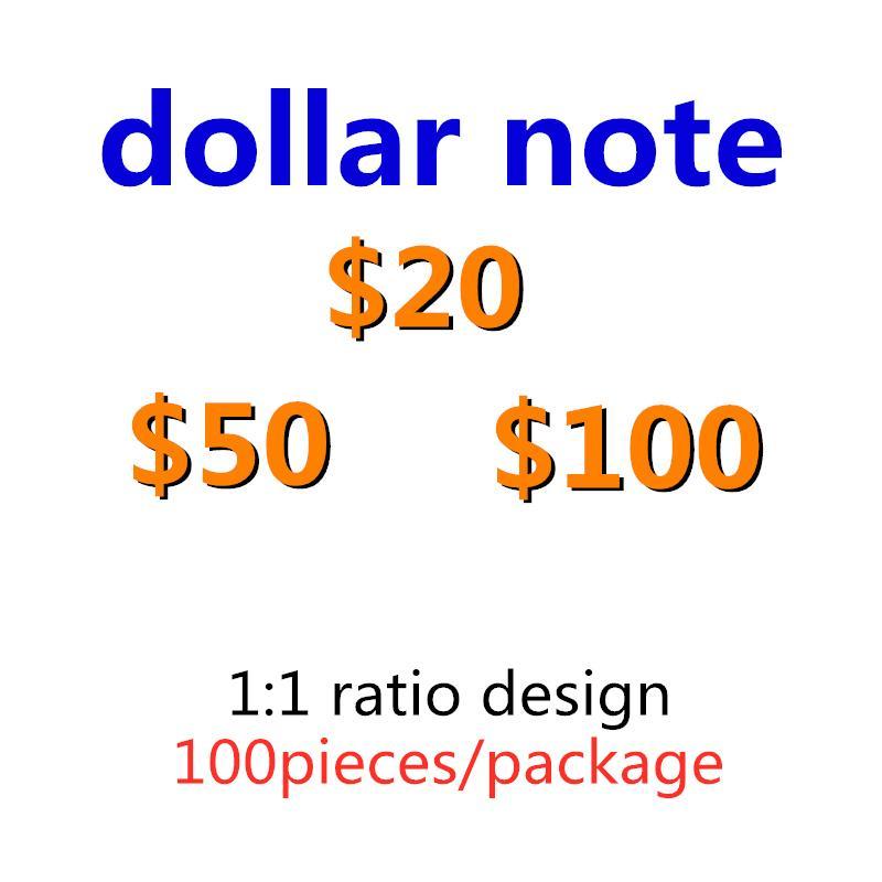 494 Simulazione 1,5,10,20,50,100 Primo Puntelli Valuta Dollaro Gioco Giochi Regali caldi Bar Sales Puntelli Dollar Bank Giocattolo per bambini