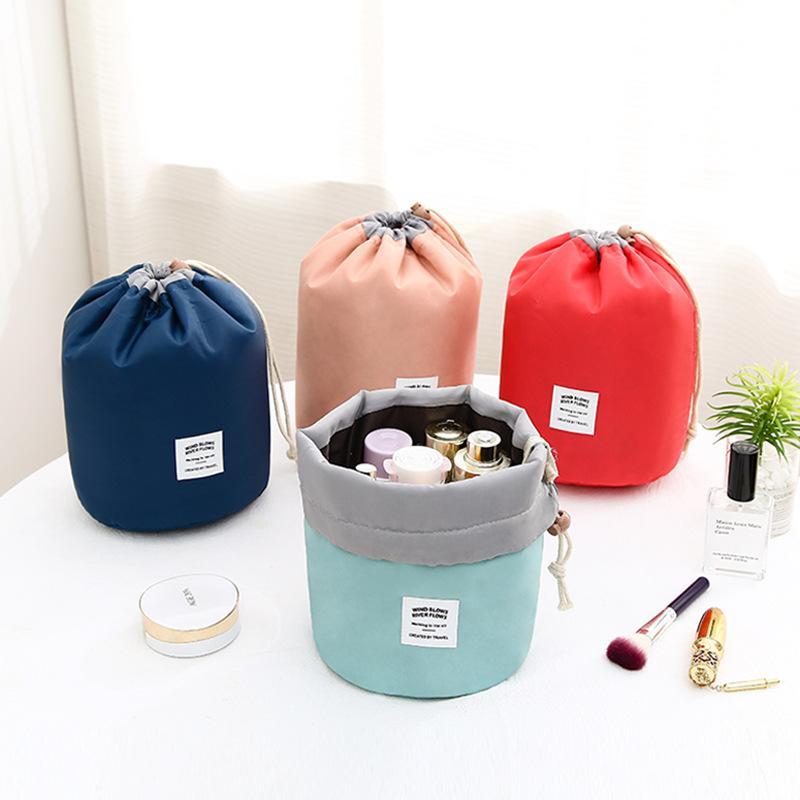 جديد جولة الرباط حقيبة مستحضرات التجميل غسل أورام حزمة متعددة الوظائف دلو حقائب السفر حقيبة كبيرة - حقيبة مستحضرات التجميل
