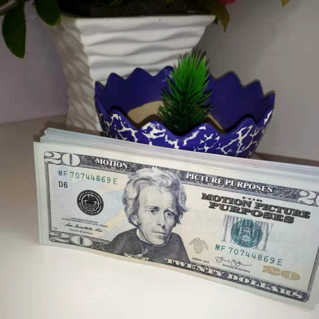 Последние самые продаваемые трансграничные горячие стиль $ 20 PROP монеты моделируются доллар контрафактные бумаги денег игрушечный фильм реквизит контрафа