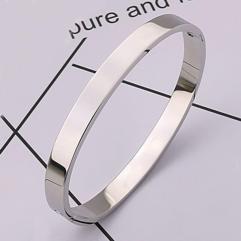 Braccialetto del braccialetto del braccialetto del braccialetto in acciaio inossidabile dell'oro dell'oro dell'oro dell'oro della rosa del designer del designer con i cacciavite e le viti della pietra del cz con la scatola all'ingrosso libero all'ingrosso