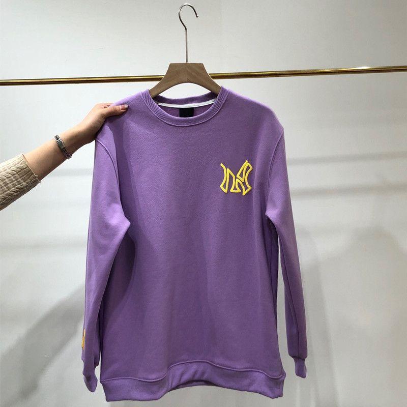 Fashion Lovers Planet plus Velvet Round Col Sweater Chaud Plus Velvet Série Velvet Tissu Tissu Pull Vêtements d'hiver ML135