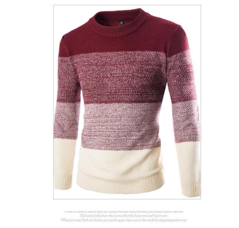 Мужские кофтистые стритюва зима теплый хлопок o шеи пуловер джемпер свитер